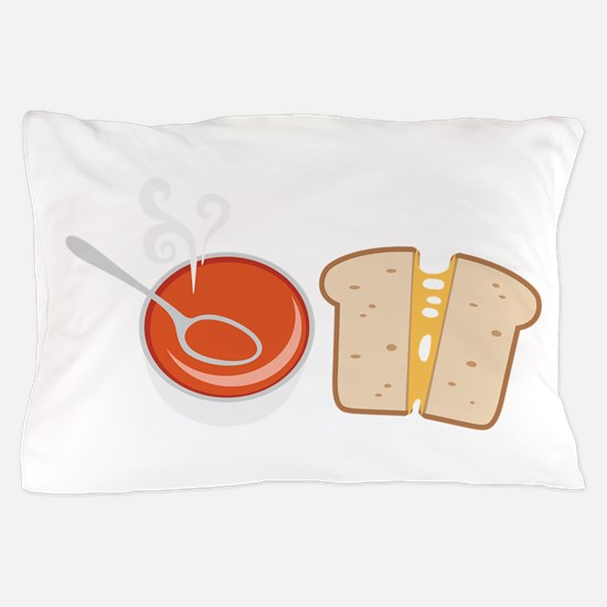 Soup  & Sandwich Pillow Case