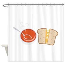 Soup & Sandwich Shower Curtain