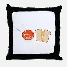 Soup & Sandwich Throw Pillow