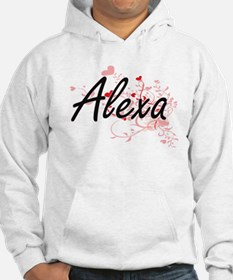 Alexa Artistic Name Design with Hoodie