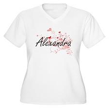 Alexandra Artistic Name Design w Plus Size T-Shirt