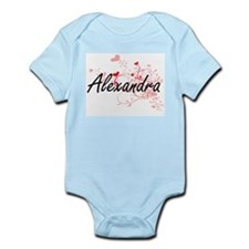 Alexandra Artistic Name Design with Hear Body Suit