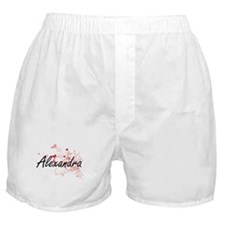 Alexandra Artistic Name Design with H Boxer Shorts