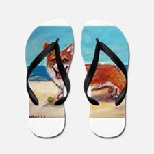 Unique Corgi Flip Flops