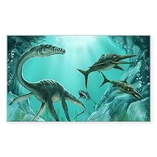 Underwater Dinosaur Decal