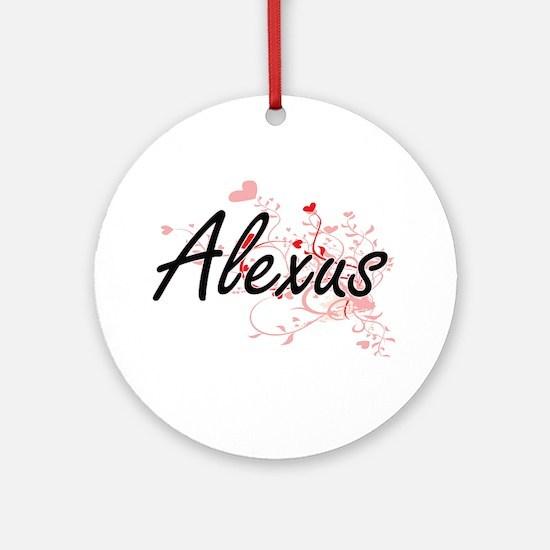 Alexus Artistic Name Design with Ornament (Round)