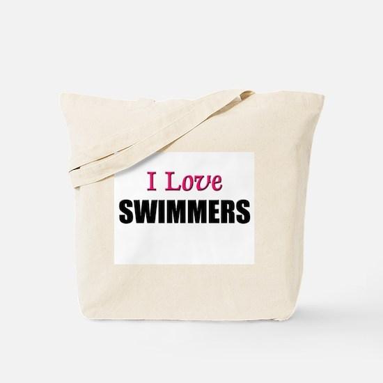 I Love SWIMMERS Tote Bag