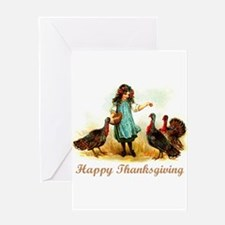 Vintage Farm Thanksgiving Greeting Card