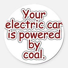 Coal Round Car Magnet