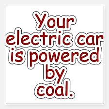 """Coal Square Car Magnet 3"""" x 3"""""""