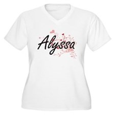 Alyssa Artistic Name Design with Plus Size T-Shirt