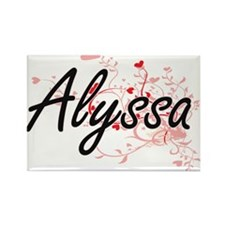 Alyssa Artistic Name Design with Hearts Magnets