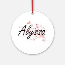 Alyssa Artistic Name Design with Ornament (Round)