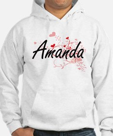 Amanda Artistic Name Design with Hoodie