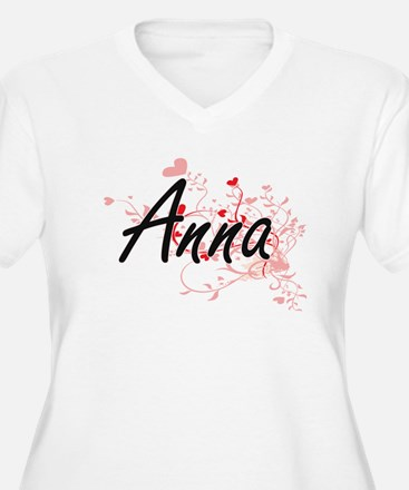 Anna Artistic Name Design with H Plus Size T-Shirt