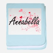 Annabella Artistic Name Design with H baby blanket