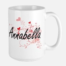 Annabella Artistic Name Design with Hearts Mugs