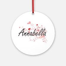 Annabella Artistic Name Design wi Ornament (Round)