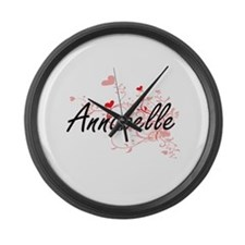 Annabelle Artistic Name Design wi Large Wall Clock