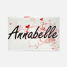 Annabelle Artistic Name Design with Hearts Magnets