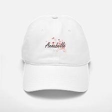 Annabelle Artistic Name Design with Hearts Baseball Baseball Cap