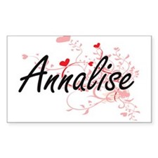 Annalise Artistic Name Design with Hearts Decal