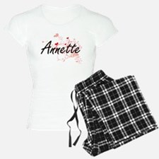 Annette Artistic Name Desig Pajamas