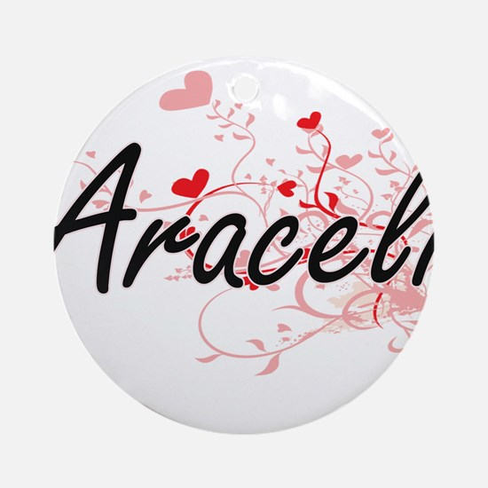 Araceli Artistic Name Design with Ornament (Round)