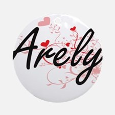 Arely Artistic Name Design with H Ornament (Round)