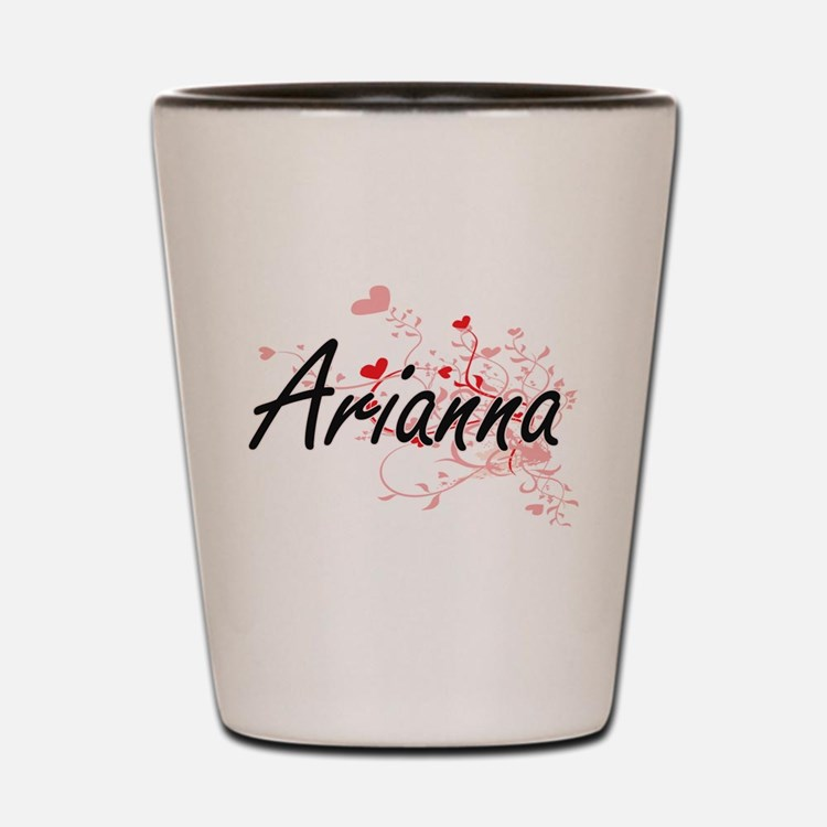 Arianna Artistic Name Design with Heart Shot Glass