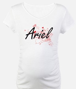 Ariel Artistic Name Design with Shirt