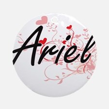 Ariel Artistic Name Design with H Ornament (Round)