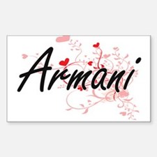 Armani Artistic Name Design with Hearts Decal