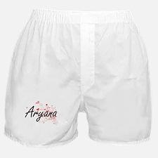 Aryana Artistic Name Design with Hear Boxer Shorts