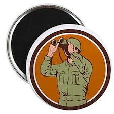World War Two American Soldier Binoculars Retro Ci
