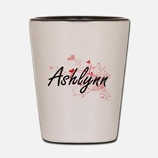 Ashlynn Artistic Name Design with Heart Shot Glass