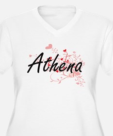 Athena Artistic Name Design with Plus Size T-Shirt