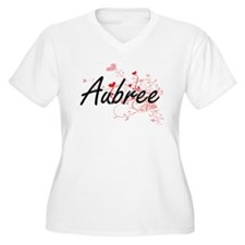 Aubree Artistic Name Design with Plus Size T-Shirt