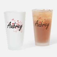 Aubrey Artistic Name Design with He Drinking Glass