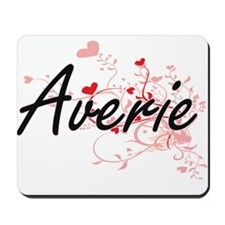 Averie Artistic Name Design with Hearts Mousepad