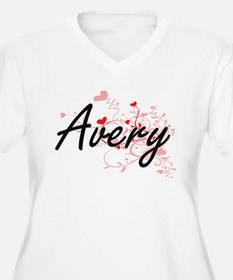 Avery Artistic Name Design with Plus Size T-Shirt
