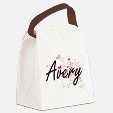 Avery Artistic Name Design with H Canvas Lunch Bag