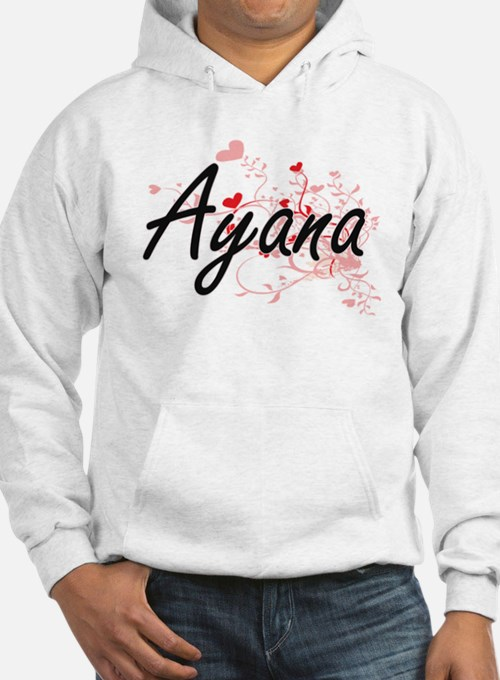 Ayana Artistic Name Design with Hoodie