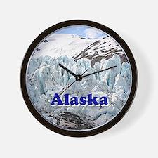 Alaska: Portage Glacier, USA Wall Clock