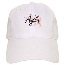 Ayla Artistic Name Design with Hearts Cap