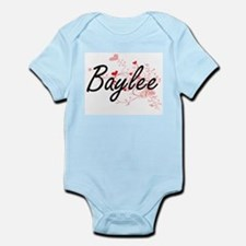 Baylee Artistic Name Design with Hearts Body Suit