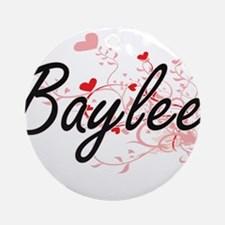 Baylee Artistic Name Design with Ornament (Round)