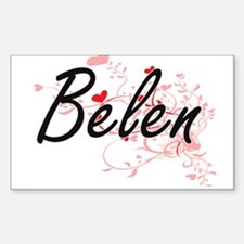 Belen Artistic Name Design with Hearts Decal