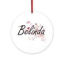 Belinda Artistic Name Design with Ornament (Round)