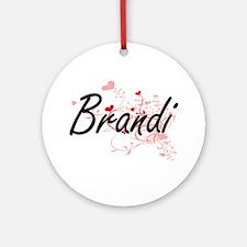 Brandi Artistic Name Design with Ornament (Round)